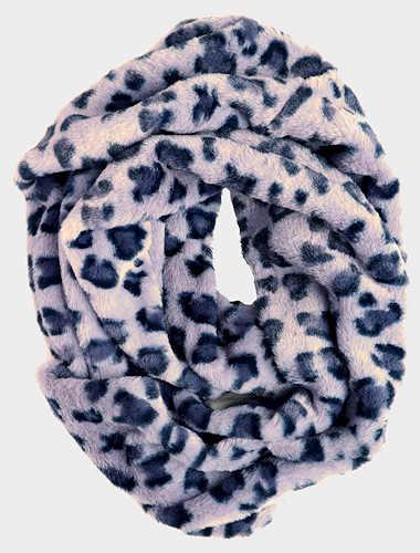 Denim Leopard Print Infinity Scarf