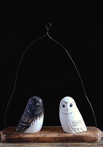 Owl Hanger Wooden Sculpture