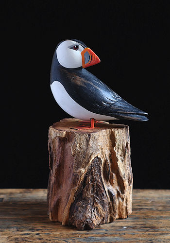 Puffin Wooden Sculpture
