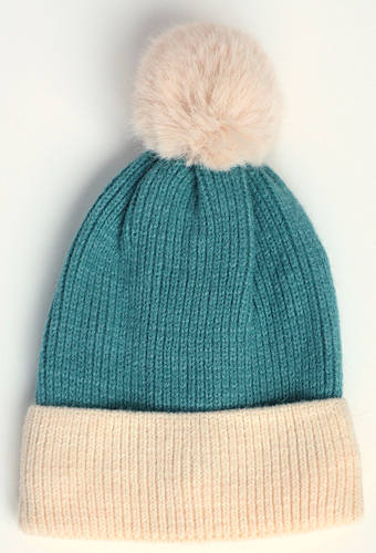 Sea Blue Bobble Hat