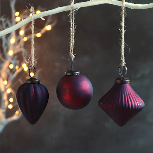 Dark Old Red Baubles