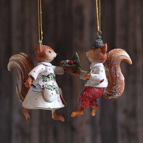 Squirrels Hanging Decoration.