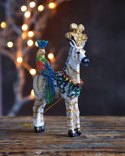 Exotic Zebra Chrstmas Decoration.
