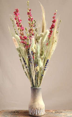 Larkspur dried flower arrangementLarkspur dried flower arrangement