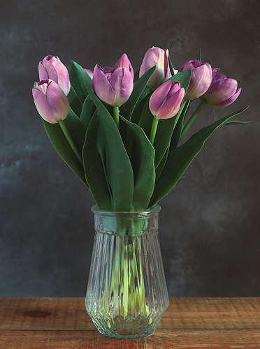 Mauve Tulips Faux Flower Bouquet