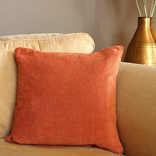 Burnt Orange Chenille Cushion