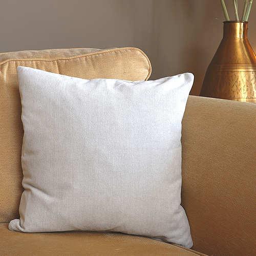 Pale Stone Chenille Cushion